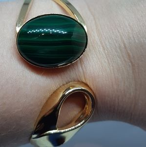 Malachite Gold Vermeil Bracelet